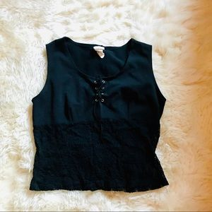 Tops - Lace up Crop Top